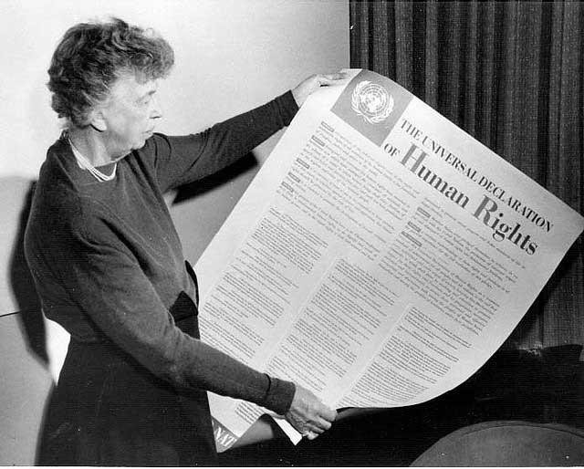 declaração direitos humanos eleanor rooselvelt