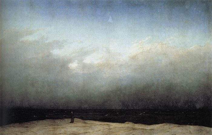 caspar david friedrich monk by the sea