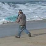 homem prancha skimming