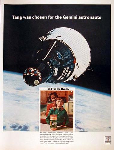 Tang anuncio do espaço