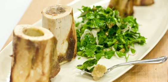 Bone marrow parsley salad bourdain